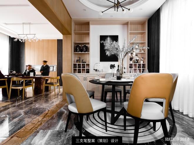 现代自建别墅餐厅设计图片