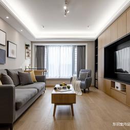 简致北欧三居客厅实景图