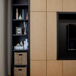 简致北欧三居客厅储物柜设计