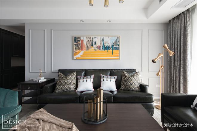 时尚美式客厅装饰画设计