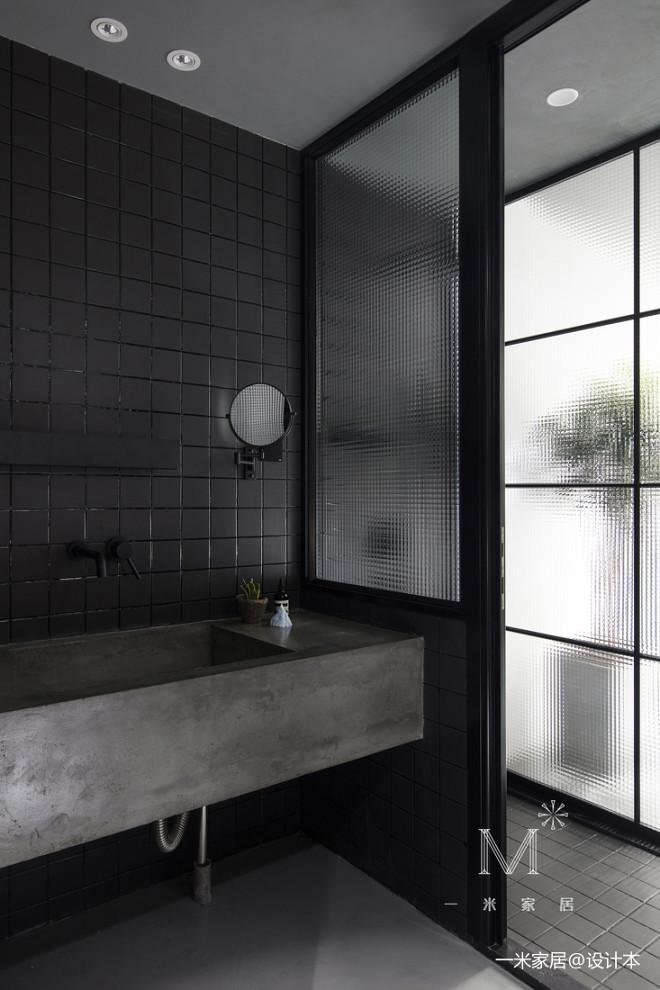 45㎡小户型现代卫浴洗手台设计