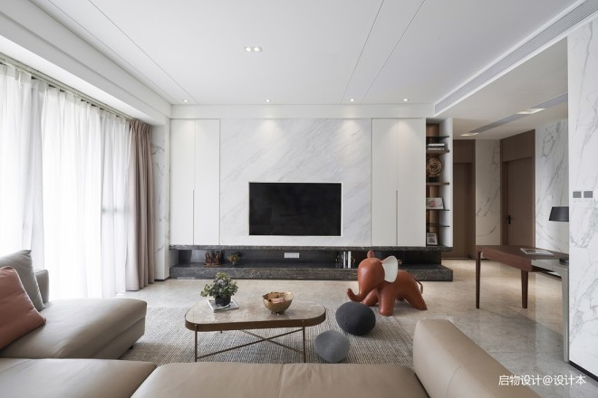 禅意中式电视背景墙设计图
