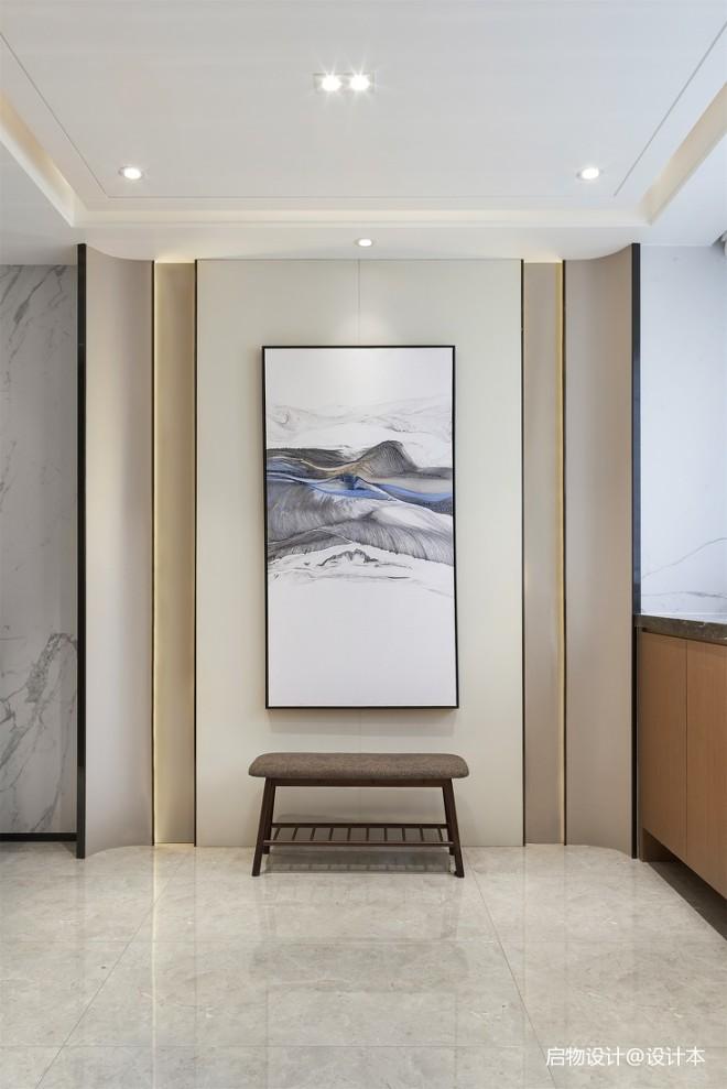 禅意中式玄关设计图片