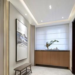 禅意中式玄关鞋柜设计