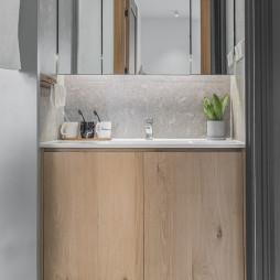 北欧风干湿分离洗手台设计图