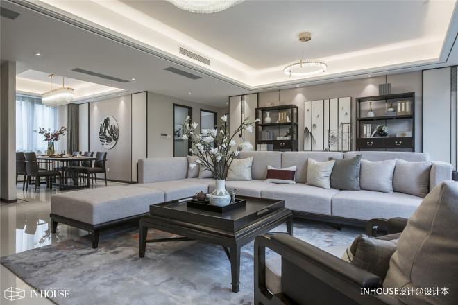融创中新国际城精装样板间客厅图片