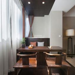 中式四居阳台休闲区设计