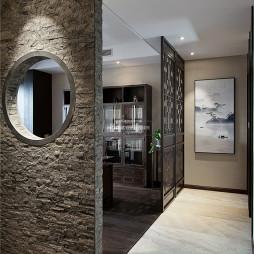 中式四居书房隔断设计