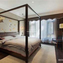 中式四居卧室设计实景