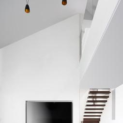 现代复式背景墙设计图片