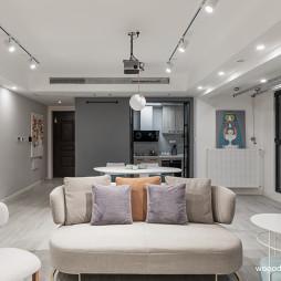 清新系现代客厅沙发图