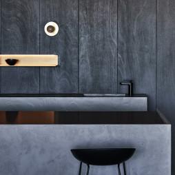 《蓝眼》现代客厅餐厅设计
