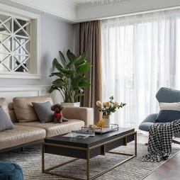 轻奢简美式客厅设计图片