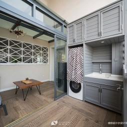 轻奢简美式阳台储物柜设计
