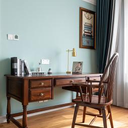 复古美式书桌设计图片