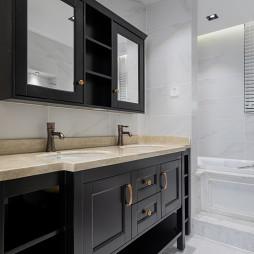 复古美式卫浴洗手台设计