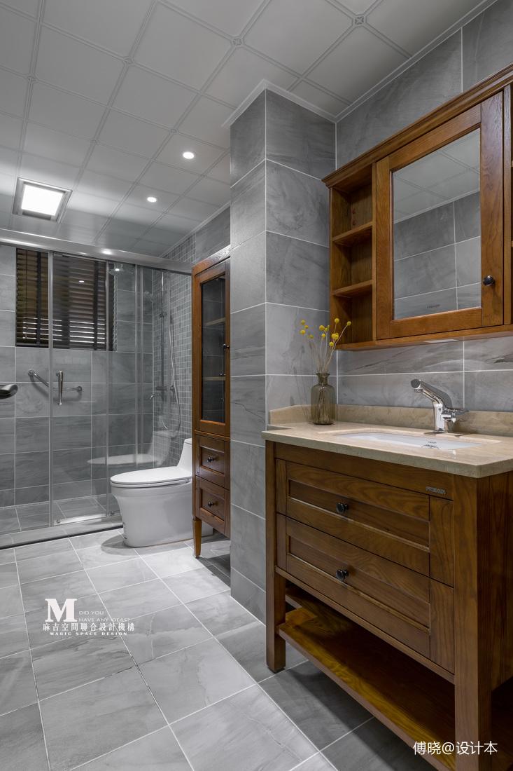 复古美式卫浴设计实景图片