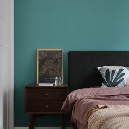 多彩现代风主卧床头柜设计