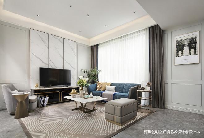 万科菁英荟别墅样板房客厅设计