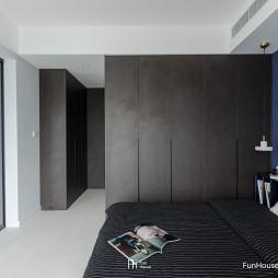 深色系混搭风卧室衣柜设计
