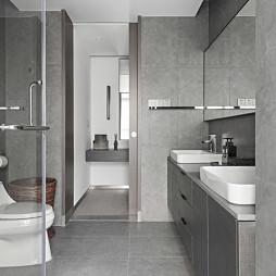 质朴现代风卫浴设计图片