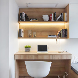 130㎡现代北欧书房书桌设计