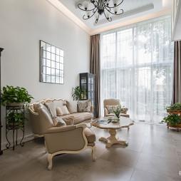 独墅苑美式客厅设计图片