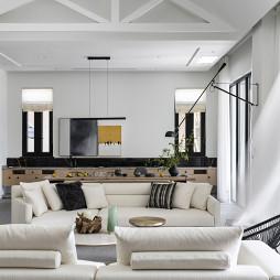 现代别墅客厅沙发图片