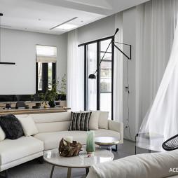现代别墅客厅壁灯图片