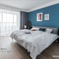 蓝色背景现代卧室设计