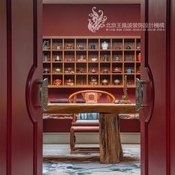 法式浪漫别墅书房设计
