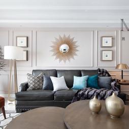 简奢美式客厅沙发图片