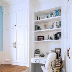 温馨现代风书房书柜设计