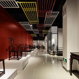 新型展厅椅子墙设计图