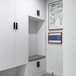 现代风复式鞋柜设计图
