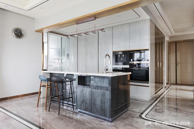 优雅现代风厨房吧台设计