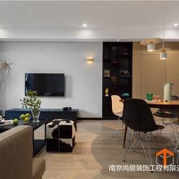 极简现代客厅餐厅一体设计