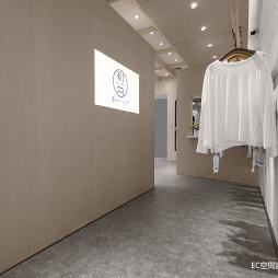 初•白 服装店铺展示区设计图片