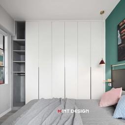 混搭风二居卧室衣柜设计