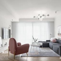 白色北欧风客厅设计图