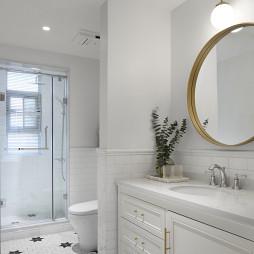 白色北欧风卫浴洗手台设计