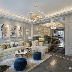 轻奢欧式客厅吊灯图片