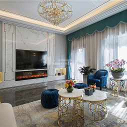 轻奢欧式客厅设计图片