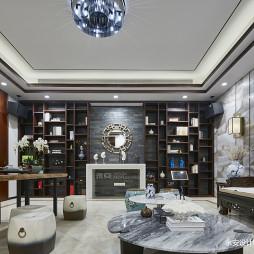 600㎡ 新中式别墅博古架设计