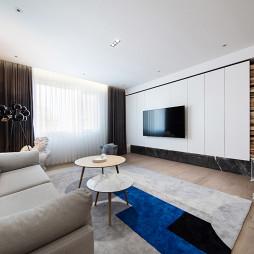 180㎡现代简约客厅背景墙设计