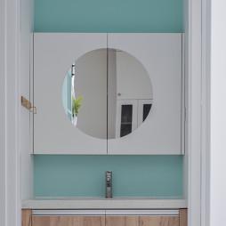 精简混搭风卫浴洗手台设计
