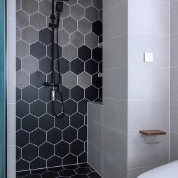 现代风二居卫浴瓷砖设计图