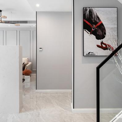 简单现代风复式楼梯间设计图
