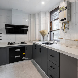 简单现代风复式厨房设计图