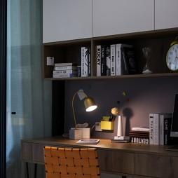 静谧现代风书柜设计图